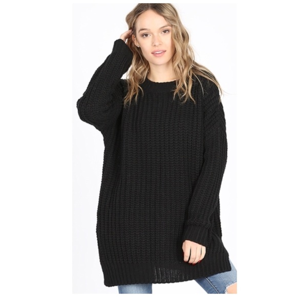 Jill Marie Boutique Sweaters - Oversized sweater chunky cable knit black NWT